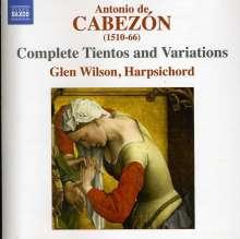Antonio de Cabezon (1500-1566): Sämtliche Tientos & Variationen, 2 CDs