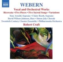 Anton Webern (1883-1945): Orchester- und Vokalwerke, CD