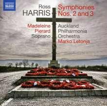 Ross Harris (geb. 1945): Symphonien Nr.2 & 3, CD