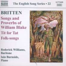 Benjamin Britten (1913-1976): Songs & Proverbs of William Blake, CD