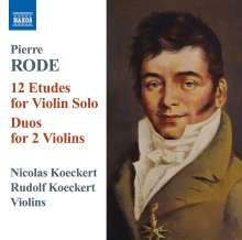 Pierre Rode (1774-1830): Etüden Nr.1-12 für Violine solo, CD