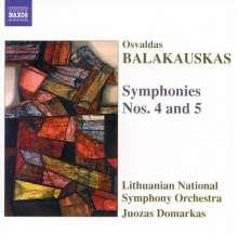 Osvaldas Balakauskas (geb. 1937): Symphonien Nr.4 & 5, CD