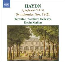 Joseph Haydn (1732-1809): Symphonien Nr.18-21, CD