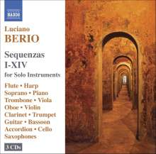 Luciano Berio (1925-2003): Sequenzas I-XIV, 3 CDs
