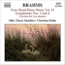 Johannes Brahms (1833-1897): Klaviermusik zu 4 Händen Vol.15, CD