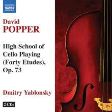 David Popper (1843-1913): Etüden op.73 Nr.1-40 für Cello solo, 2 CDs