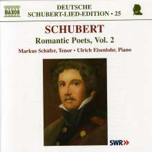 "Franz Schubert (1797-1828): Lieder ""Romantische Dichter"" Vol.2, CD"