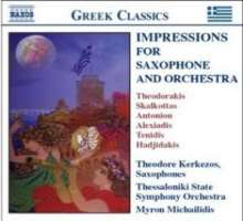 Theodore Kerkezos - Impressions for Saxophone & Orchestra, CD