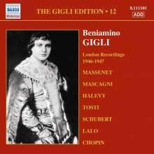 Benjamino Gigli- Edition Vol.12, CD