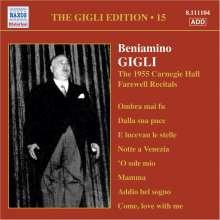 Benjamino Gigli- Edition Vol.15, CD