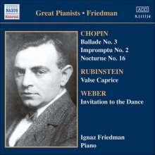 Ignaz Friedman - Complete Recordings Vol.4, CD