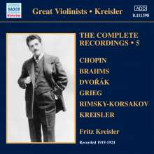 Fritz Kreisler - The Complete Recordings Vol.5, CD