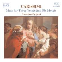 Giacomo Carissimi (1605-1674): Messe zu 3 Stimmen, CD