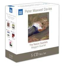 "Peter Maxwell Davies (1934-2016): Streichquartette ""Naxos Quartette"", 5 CDs"