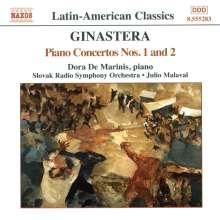 Alberto Ginastera (1916-1983): Klavierkonzerte Nr.1 & 2 (opp.28 & 39), CD
