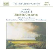 Antonio Rosetti (1750-1792): Fagottkonzerte Murray C69,73-75, CD