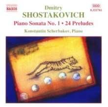 Dimitri Schostakowitsch (1906-1975): Präludien op.34 Nr.1-24, CD