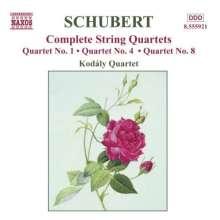 Franz Schubert (1797-1828): Streichquartette Nr.1,4,8, CD
