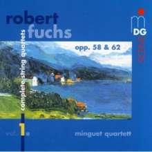 Robert Fuchs (1847-1927): Sämtliche Streichquartette Vol.1, CD