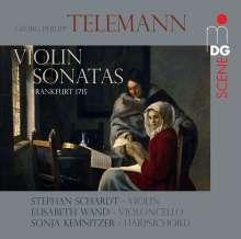 Georg Philipp Telemann (1681-1767): 6 Sonaten für Violine & Bc (Frankfurt 1715), SACD