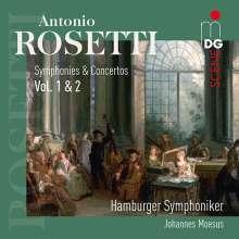 Antonio Rosetti (1750-1792): Symphonien & Konzerte, 2 CDs