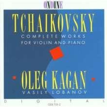 Peter Iljitsch Tschaikowsky (1840-1893): Die Werke f.Violine & Klavier, CD