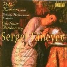 Serge Tanejew (1856-1915): Konzertsuite op.28 für Violine & Orchester, CD