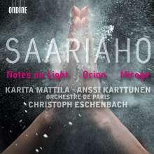 Kaija Saariaho (geb. 1952): Notes on Light für Cello & Orchester, CD