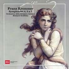 Franz Krommer (1759-1831): Symphonien Nr.4,5,7 (op.102,op.105,WoO), CD