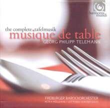 Georg Philipp Telemann (1681-1767): Tafelmusik (Gesamtaufnahmen), 4 CDs
