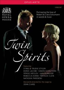 Robert Schumann (1810-1856): Twin Spirits - Portraying the Love of Robert & Clara, 2 DVDs