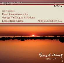Ernst Krenek (1900-1991): Klaviersonaten Nr.2 & 4, CD