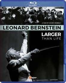Leonard Bernstein (1918-1990): Leonard Bernstein - Larger Than Life (Dokumentation), Blu-ray Disc