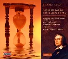 Franz Liszt (1811-1886): Orchesterwerke, 4 CDs
