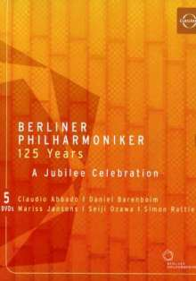 Berliner Philharmoniker - 125 Years Jubilee Celebration, 5 DVDs