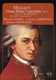 Wolfgang Amadeus Mozart (1756-1791): Die großen Klavierkonzerte Vol.1, DVD