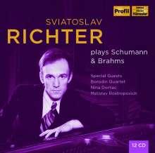 Svjatoslav Richter plays Schumann & Brahms 1948-1963, 12 CDs