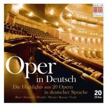 Oper in Deutsch (Auszüge aus 20 Opern), 20 CDs
