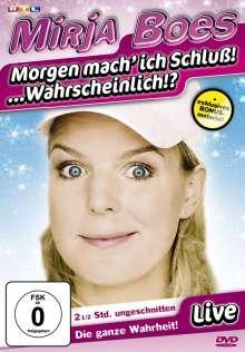 Mirja Boes: Morgen mach ich Schluss! ... Wahrscheinlich?, DVD