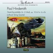 Paul Hindemith (1895-1963): Streichquartette Nr.2 op.10 & Nr.6 (1943), CD