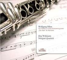 Wolfgang Rihm (geb. 1952): 4 Studien zu einem Klarinettenquintett, CD