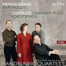 Felix Mendelssohn Bartholdy (1809-1847): Streichquartette Nr.0-7, 4 CDs