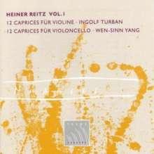 Heiner Reitz (geb. 1925): 12 Capricen für Violine, CD