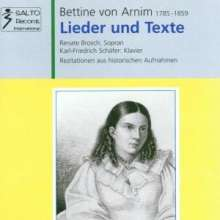 Bettina von Arnim: Lieder & Texte, CD