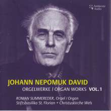 Johann Nepomuk David (1895-1977): Orgelwerke Vol.1, CD