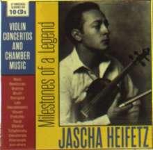 Jascha Heifetz - Milestones of a Legend, 10 CDs