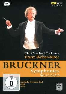 Anton Bruckner (1824-1896): Symphonien Nr.4,5,7-9, 5 DVDs