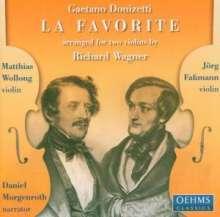 Gaetano Donizetti (1797-1848): La Favorite für 2 Violinen, CD
