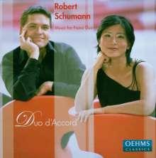 Robert Schumann (1810-1856): Werke für Klavier 4-händig, CD
