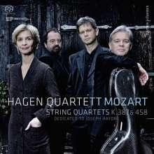 Wolfgang Amadeus Mozart (1756-1791): Streichquartette Nr.14 & 17, SACD